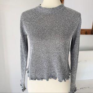 Sadie & sage gray cropped sweater NWOT